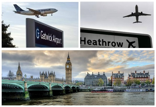 Heathrow to Gatwick Airport Via London Attractions